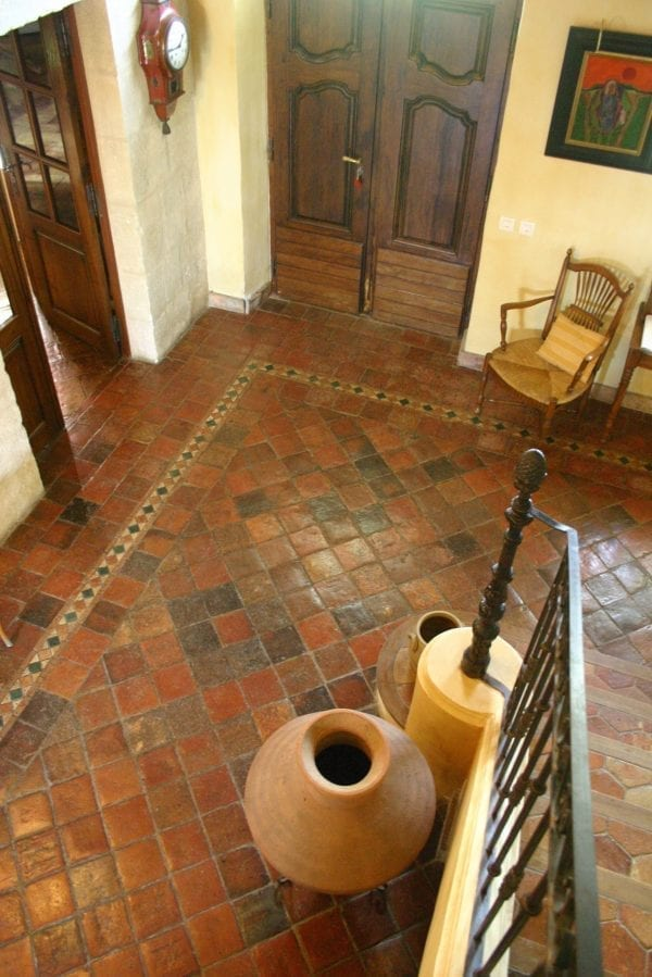 Reclaimed french terracotta tiles
