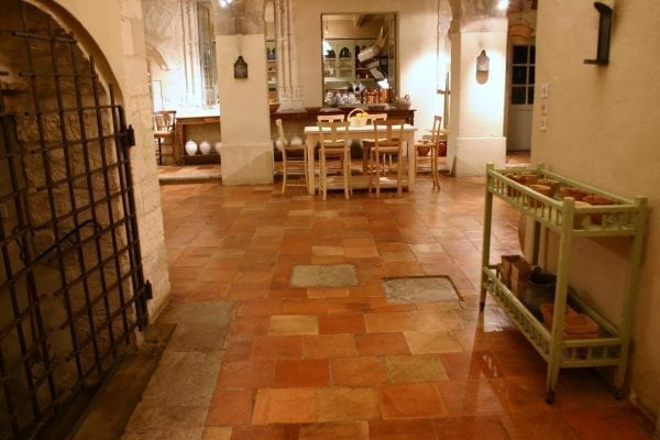 Large size antique French floor tiles