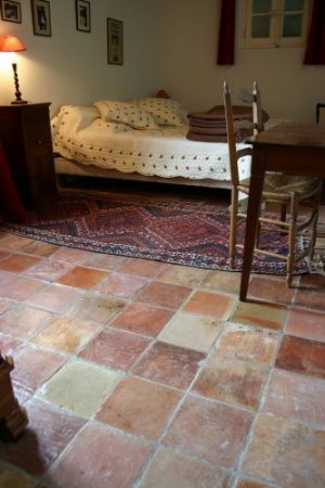 Antique French terracotta tiles