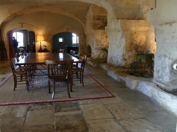 Reclaimed Blond bar stone flooring