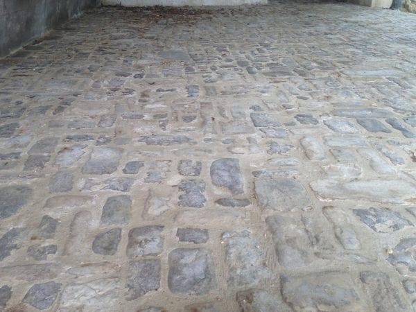 pavés pierre récupération