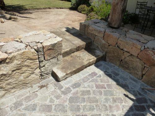 Reclaimed street cobblestones