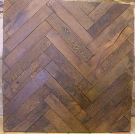 Antique herringbone parquet
