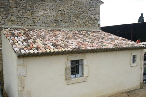 Antique French barrel roof tiles