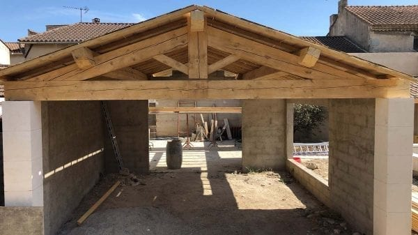 Spruce wood trusses