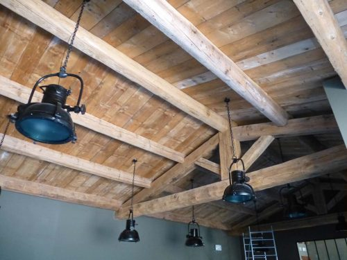 Antique French wood ceiling