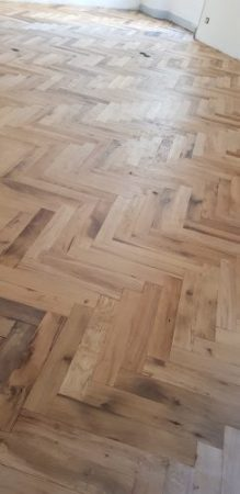 Herringbone French oak flooring