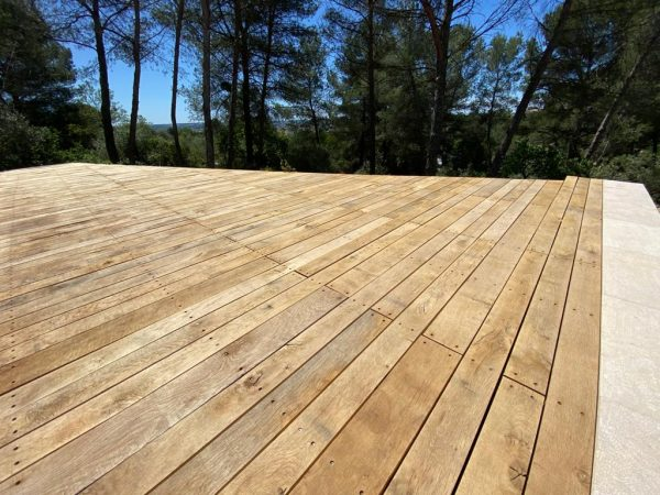 French oak decking