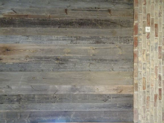 Antique grey pine wall cladding