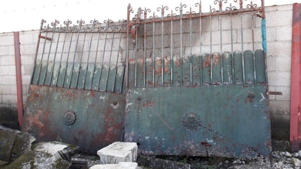 Reclaimed iron gate